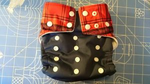 red white and blue cloth diaper by Eliea