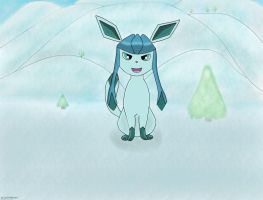Glaceon's cool adventure. by 0124nathan