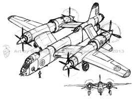 British Bomber Concept Sketch by GTDees