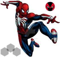 Spiderman Insomniac Games  marvel avenger alliance by redknightz01