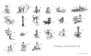 Tower Concepts page total by Beastysakura