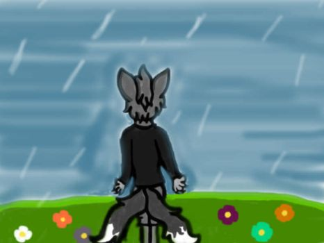 About to rain by SilverFox345