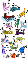26 cats adoptables OPEN by Nommy-Adopts