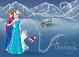 Anna, Elsa and Olaf for Anna by AgiVega