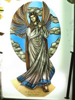 Hand-painted-stained-glass-angel-light-table by ImaginedGlass