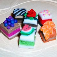 Polymer Clay Petit Cakes by DarkPartOfCarrot
