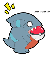 Gible Gumball? -Colored- by Psyoren
