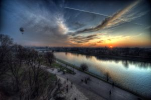 View from Wawel Hill by kubica