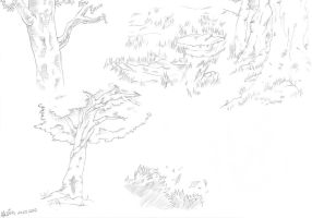 Trees Studium by alexis-the-angel