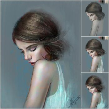 Step by step - color study by aynnart