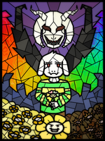 SPOILERS - Asriel Window by Ixtaek