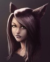 Miqo'te Face by ArtofGunn