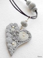 'Granite heart' by OrionaJewelry