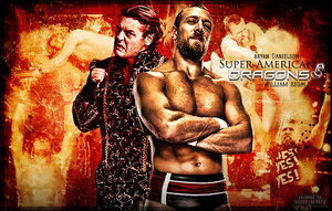 Bryan Danielson And William Regal Signature by SoulRiderGFX