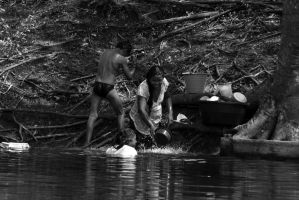 Washing on the Sayache by SantiBilly