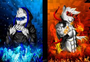 Blue And Red by vesto-snow-leopard
