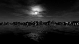 City in darkness by Storkner