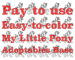 PSD AND PAINT: Ready to Color MLP Adoptables Base by CyansAdoptables
