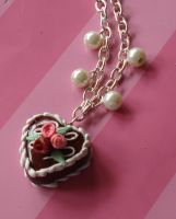 Choco Heart Cake Necklace by FatallyFeminine