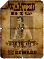 Nick's Wanted Poster by AlexKingOfTheDamned