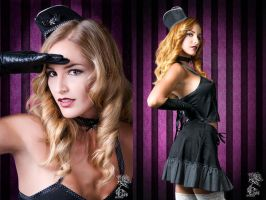 Polkadot Skull Air Hostess III by Miss-SelfDestructive