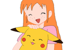 Mia with Ash's Pikachu by ChipmunkRaccoonOz