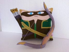 Handmade Green Arrow with Quiver and Bow Pillow by RbitencourtUSA