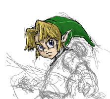 Young Link - iScribble WIP by Lalam24