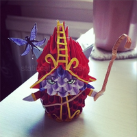 3D Origami: Lulu (League of Legends) by StaticCatnip
