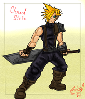 Cloud Strife SketchCard by Wessel