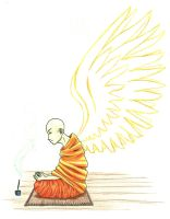 Monk with Wings by Veboshi
