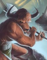 The Minotaur by steven-donegani