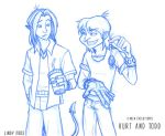 Nightcrawler and Toad by PsychedelicMind