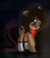 ...::Rebeca pony...sad crying on a rainy night::.. by gisselle50