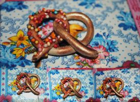 Candy Pretzel charm by dragonesia