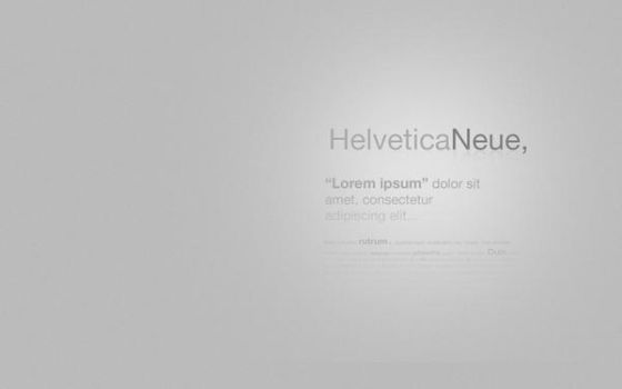 Helvetica Typography Wallpaper by KyleBolton