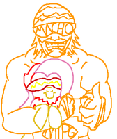 Macho Man and the Flutterster by creepycurse