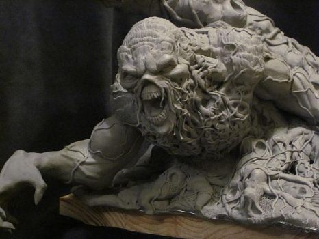 Wrightson Swamp Thing WIP 2 by Blairsculpture