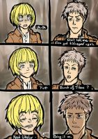 Armin and Jean must going through a lot of shit by DerTerrorKruemel