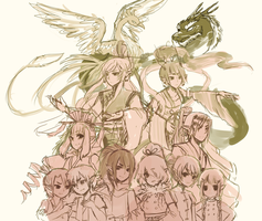 OCs -- Bird OCs (WIP) by onisuu