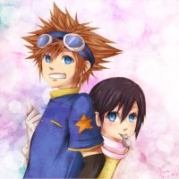 KH cos over Digimon: Sora and Xion by yoruven