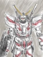 Gundam Unicorn1 by mimidan