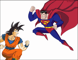 SuperMan Vs. Super Saiya by Chiok