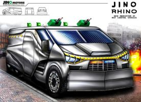 Jino Rhino Water Cannon Vehicle Design Concept by toyonda
