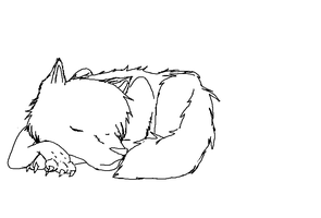 Precious Slumber Lineart by doeey