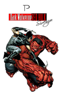 the RED hulk  render by Sirenzo