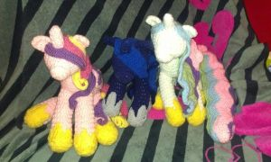 Crochet Princesses MLP WIP by Shyann20