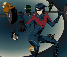 Nightwing rouge gallary by Haycle