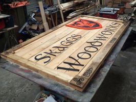 Sign Skaggs Woodworks by Lupas-Deva