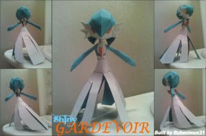 Shiny Gardevoir Papercraft Finished by rubenimus21